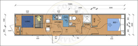 Accommodation Container - The Long Beach Pre-Designed Container Home Adelaide