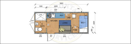 accommodation container - the pacific pre-designed container home adelaide
