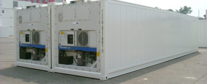 refrigerated new containers