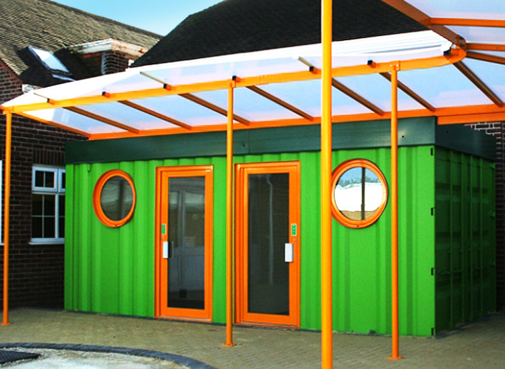 shipping container schools